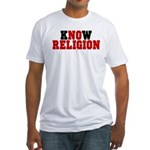 kNOw Religion Fitted Tee Shirt