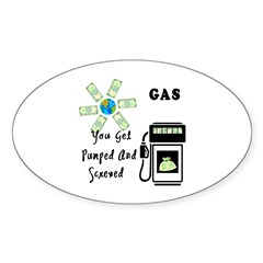 Gas Prices Oval Decal