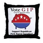 Pork Barrel Pig Throw Pillow