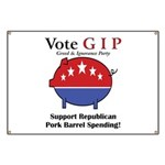 Pork Barrel Pig Banner