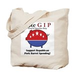 Pork Barrel Pig Tote Bag
