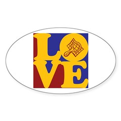 Compliance Love Oval Sticker (10 pk)