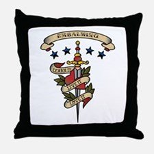 Love Embalming Throw Pillow