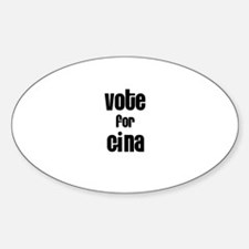 Vote for Gina Oval Decal