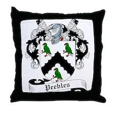 Peebles Family Crest Throw Pillow