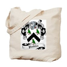 Peebles Family Crest Tote Bag