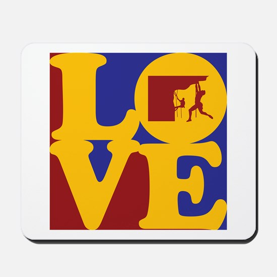 Climbing Love Mousepad
