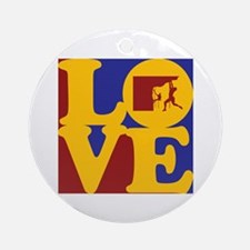 Climbing Love Ornament (Round)