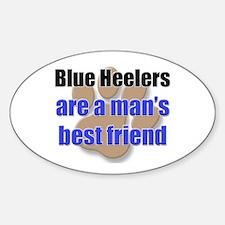 Blue Heelers man's best friend Oval Decal