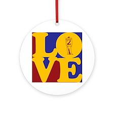 Civil War Love Ornament (Round)