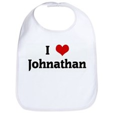 I Love Johnathan Bib