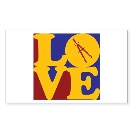 Civil Engineering Love Rectangle Sticker