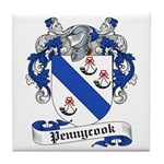 Pennycook Family Crest Tile Coaster