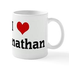 I Love Johnathan Small Mug
