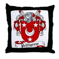 Pettigrew Family Crest Throw Pillow