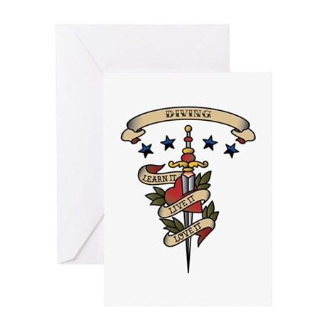 Love Diving Greeting Card