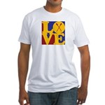 Canoeing Love Fitted T-Shirt