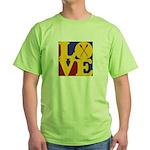 Canoeing Love Green T-Shirt