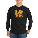 Canoeing Love Long Sleeve Dark T-Shirt