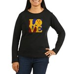 Canoeing Love Women's Long Sleeve Dark T-Shirt