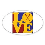 Canoeing Love Oval Sticker (10 pk)