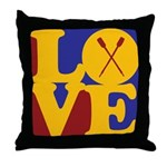 Canoeing Love Throw Pillow