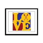 Canoeing Love Framed Panel Print
