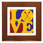 Canoeing Love Framed Tile