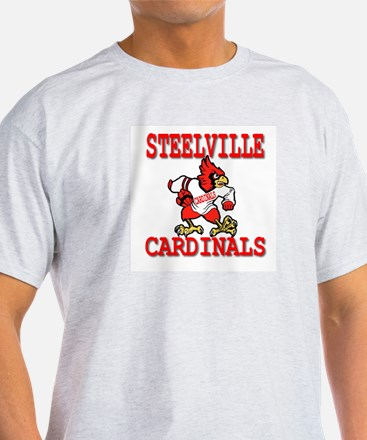 Steelville Cardinals Ash Grey T-Shirt