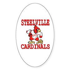 Steelville Cardinals Oval Decal