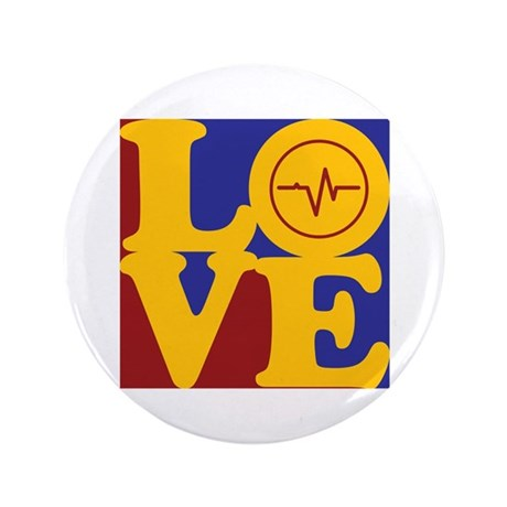 """Biomedical Engineering Love 3.5"""" Button"""