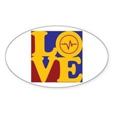 Biomedical Engineering Love Oval Decal