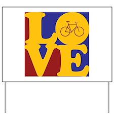 Bicycling Love Yard Sign