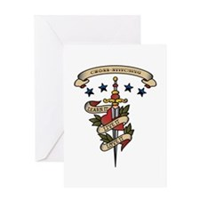 Love Cross-stitching Greeting Card