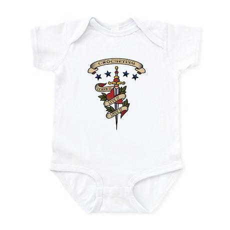 Love Crocheting Infant Bodysuit