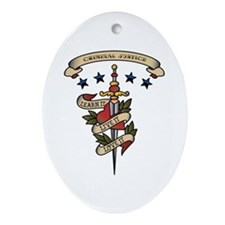 Love Criminal Justice Oval Ornament