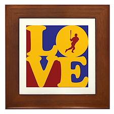 Baseball Love Framed Tile