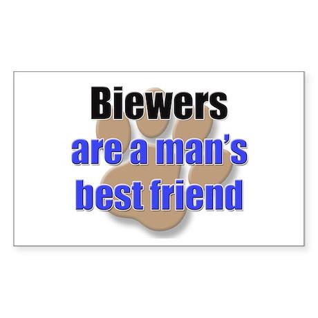 Biewers man's best friend Rectangle Sticker
