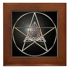 Pentagram & Celtic Knot Framed Tile