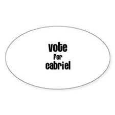 Vote for Gabriel Oval Decal
