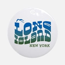 Long Island New York Ornament (Round)