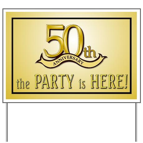 50th Anniversary Yard Sign