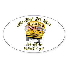 Hi Ho School Bus Oval Decal