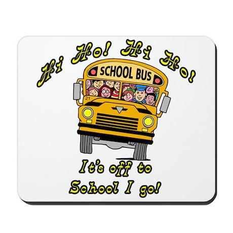 Hi Ho School Bus Mousepad
