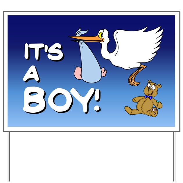 It S A Boy Stork Yard Sign By Jqdesigns