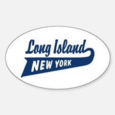 Long Island New York Oval Decal