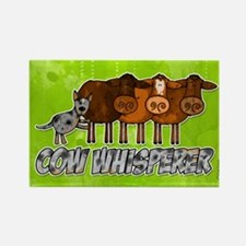 cow whisperer blue heeler Rectangle Magnet