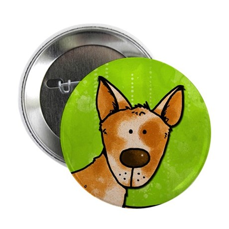 "cow whisperer red heeler 2.25"" Button"