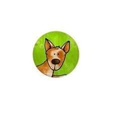cow whisperer red heeler Mini Button