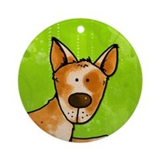 cow whisperer red heeler Ornament (Round)